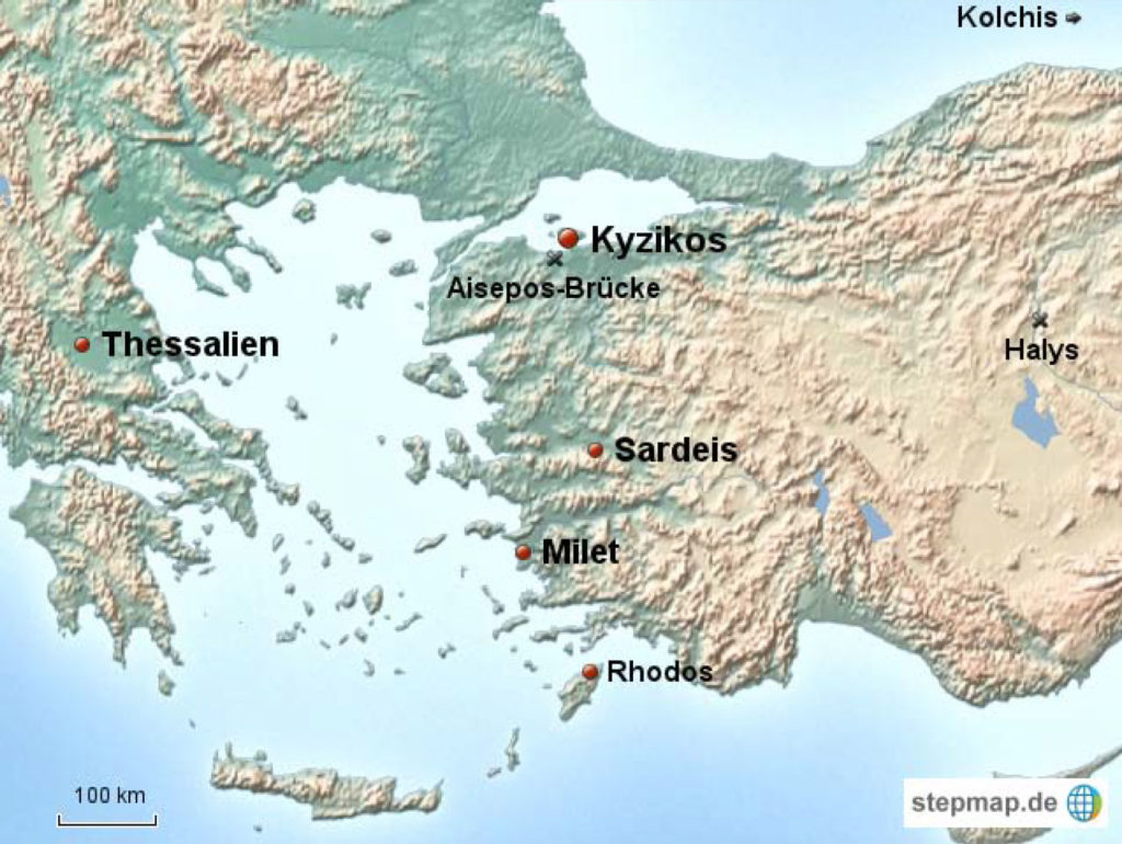 Figure 1 – Map Showing Location of Ancient Kaunos