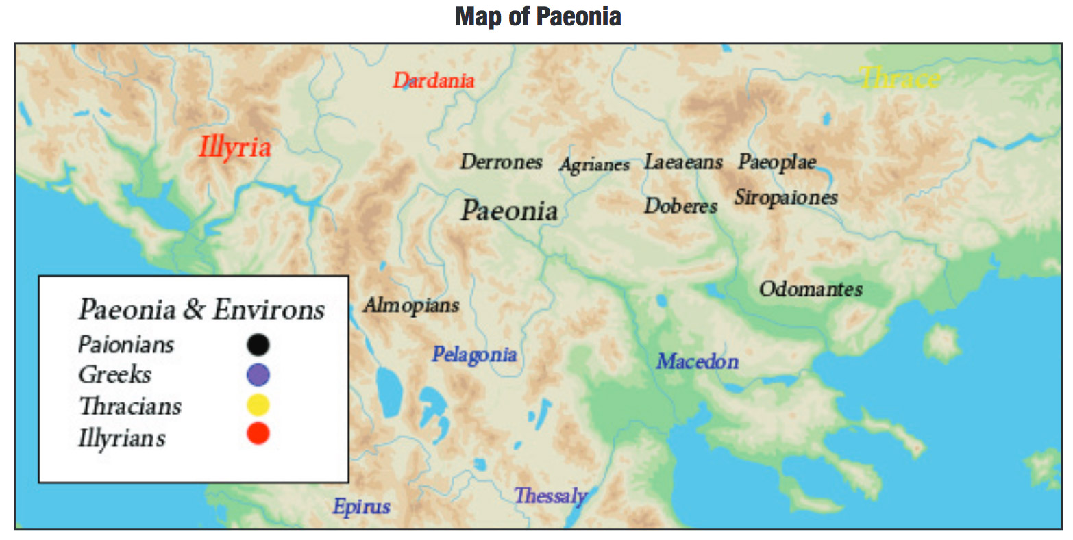 Map of Paeonia